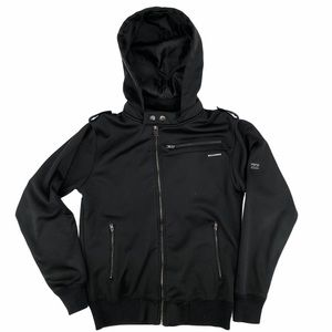 Billabong Black Zip Up Hooded Jacket Size Small